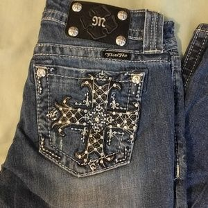 Miss Me Bling Mid Rise Boot Jeans